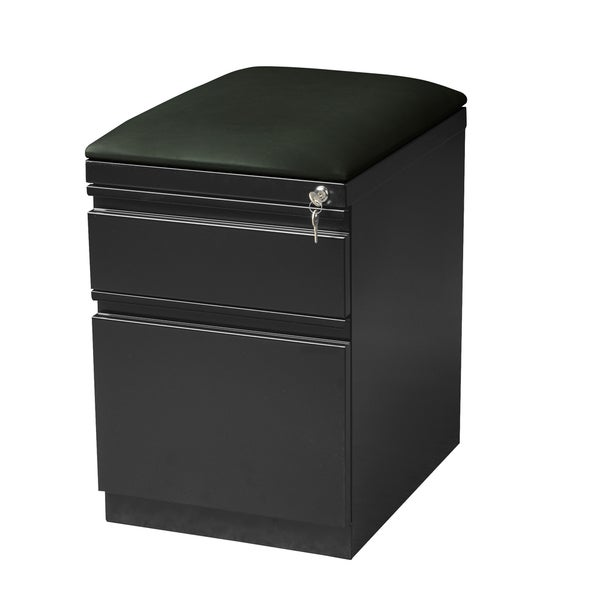 20-inch Charcoal Mobile Pedestal with Seat Cushion