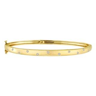 14k Gold 0.15ct Pave-Set Starlight Diamond Bangle Bracelet (G-H, SI1-SI2)