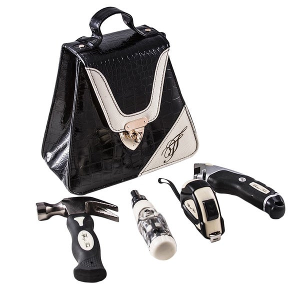Tiffany's Tools Black Moc Croc Triangle Tool Kit