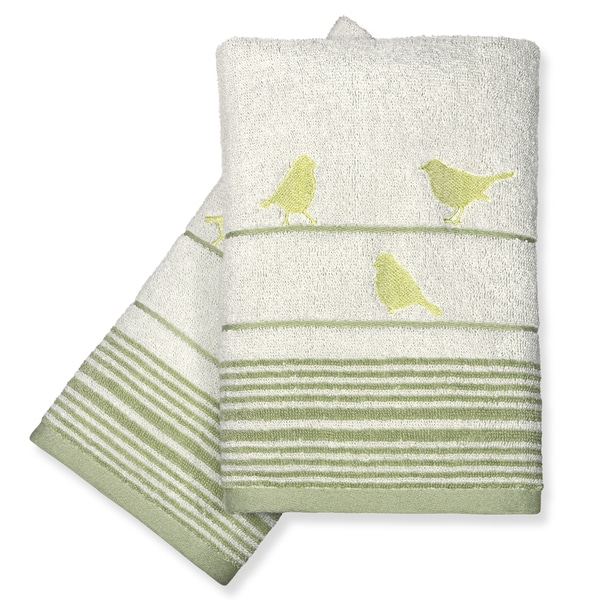 Peri Home Little Birds Fingertip Towels (Set of 2)