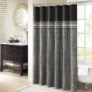 Madison Park Denton Jacquard Shower Curtain