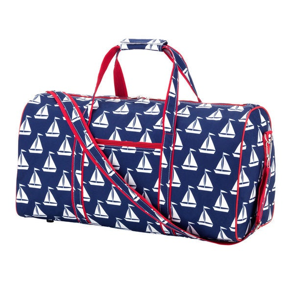 Navy Anchor Sail 21-inch Carry-on Duffel Bag