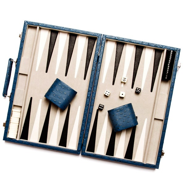 Ostrich Style New School Backgammon Set