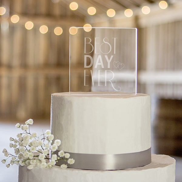 Best Day Ever Acrylic Square Cake Topper