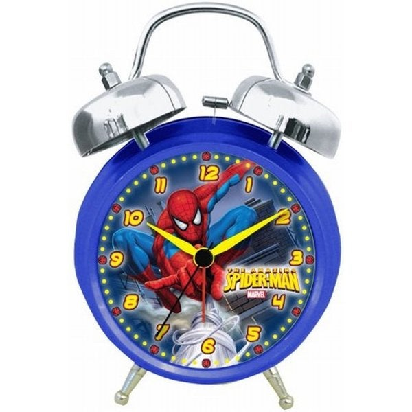 Marvel Spiderman Quartz Analog Twin Bell Alarm Clock