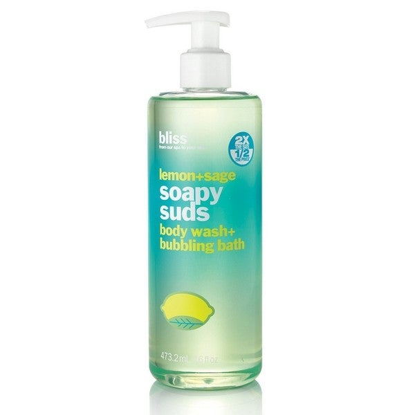 Bliss Lemon + Sage Soapy Suds Body Wash + Bubbling Bath (16 ounces)