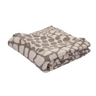 "Taupe/Ivory Cotton Throw - (50""x60"")"