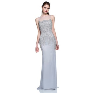 Terani Couture Strapless Illusion Evening Gown