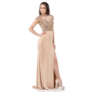 Terani Couture Romanesque Evening Gown with Jersey Skirt