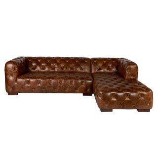 Lazzaro Leather Manhatton Coco Brompton Sectional Sofa