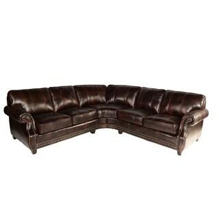 Lazzaro Leather Anna Pull-up Buckeye Sectional Sofa