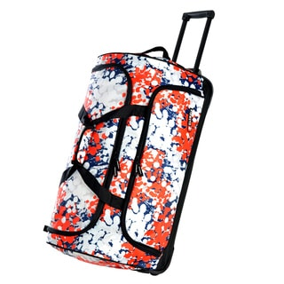 Olympia Ink Blots 26-inch Rolling Fashion Duffel Bag