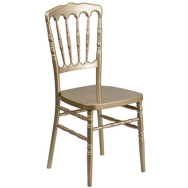 Fabian Gold Resin Designer Ballroom Stacking Chairs