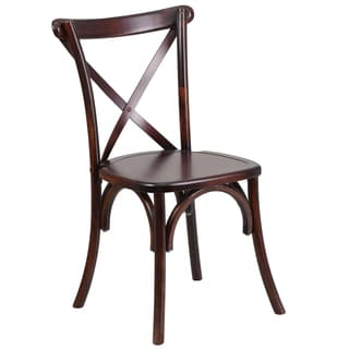 Dylan Wood Cross Back Design Fruitwood Stackable Chairs
