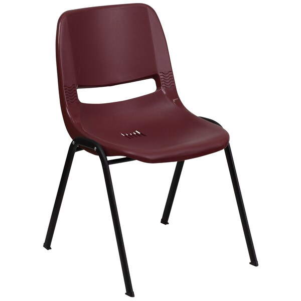 Camellia Burgundy Contoured Stack Chairs