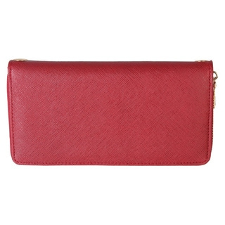 Rimen & Co. Saffiano PU Leather Zip Around Wallet