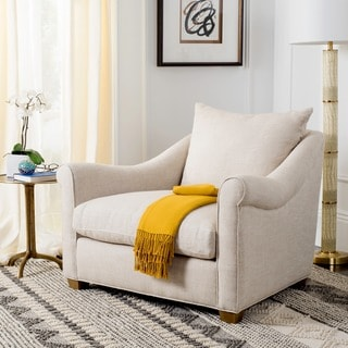 Safavieh Couture Collection Frasier Natural Linen Chair