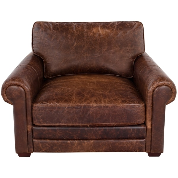 Safavieh Couture Collection Walter Cocoa Leather Chair