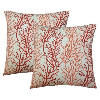 Coral 17-inch Accent Pillows (2-pack)