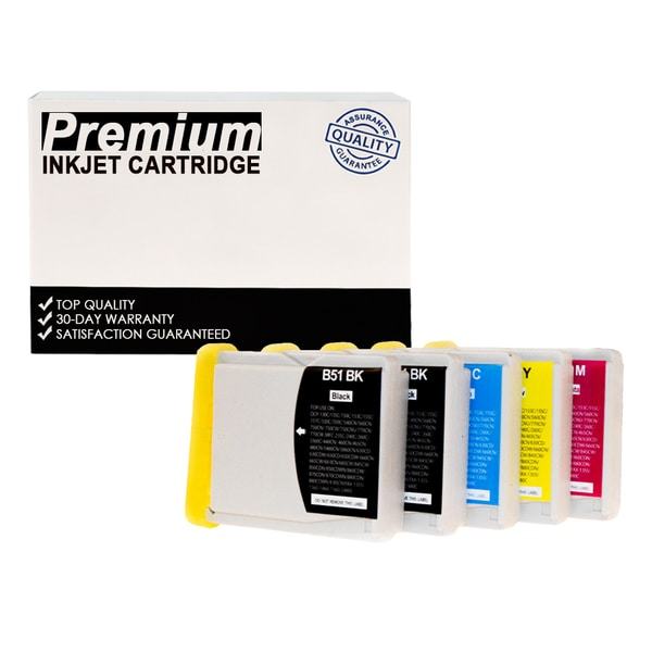 Compatible Set Brother LC51 KKCYM InkJet Cartridge (5-pack)