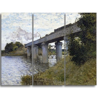 Design Art Claude Monet 'The Railroad bridge in Argenteuil' Landscape Canvas Arwork