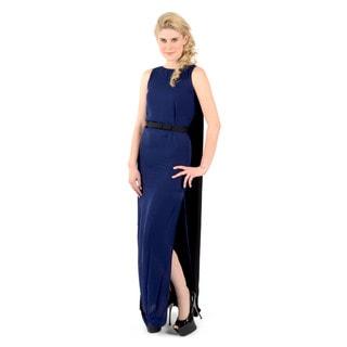 Halston Heritage Sleeveless Cape Dress