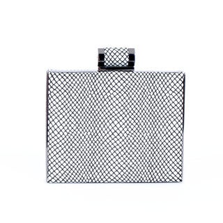 Halston Heritage Leather Box Minaudiere
