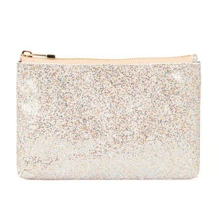 Halston Leather Gold Sparkle Clutch