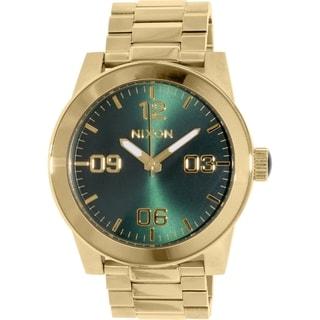 Nixon Men's Corporal A3461919 Stainless Steel Goldtone Quartz Watch