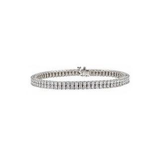 14k White Gold 4 3/4ct TDW Diamond Tennis Bracelet (H-I, SI1-SI2)