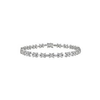 18k White Gold 4 1/3ct TDW Diamond Tennis Bracelet (H-I, SI1-SI2)