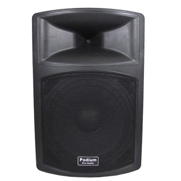 Podium Pro PP1503A Band DJ PA Karaoke 900W Powered 15-inch Speaker w/ RCA Connections