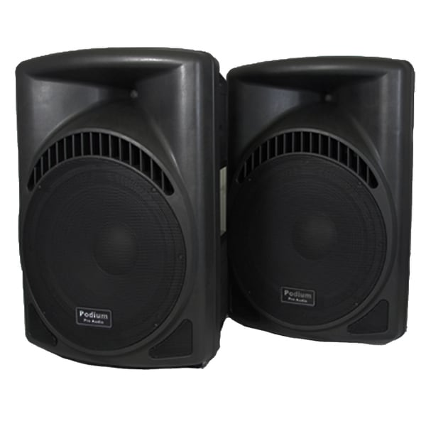 Podium Pro PP1504CA DJ PA Karaoke 1800W Powered 15-inch Speakers w/ Flash Drive PP1504CA-PR