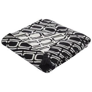 Black/White Cotton Throw (50 x 60 inches)