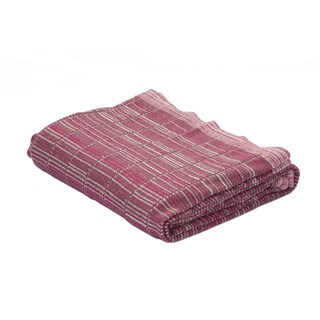 Red/Ivory Cotton Throw (50 x 60 inches)