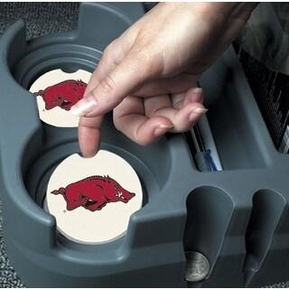 Arkansas Razorbacks Absorbent Stone Car Coaster (Set of 2)