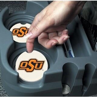 Oklahoma State Cowboys Absorbent Stone Car Coaster (Set of 2)