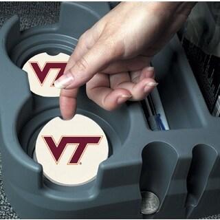 Virginia Tech Hokies Absorbent Stone Car Coaster (Set of 2)