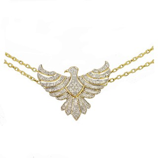 Beverly Hills Charm 14K Gold 1/2ct TDW Diamond Multi Starnd Bird Charm Bracelet (H-I, I2-I3)