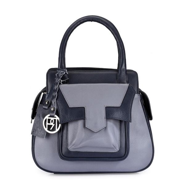 Phive Rivers Women's Satchel Bag (Grey) (PR1045)