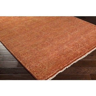 Hand Knotted Fountain Wool Rug (8' x 11')