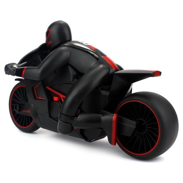 Velocity Toys Speed Lightning RC Motorcycle 2.4 GHz Control System RTR with Bright LED Headlights (Colors May Vary)