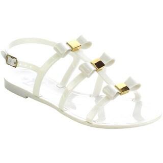 Beston FA69 Women's 3-Bows Flat Sandals