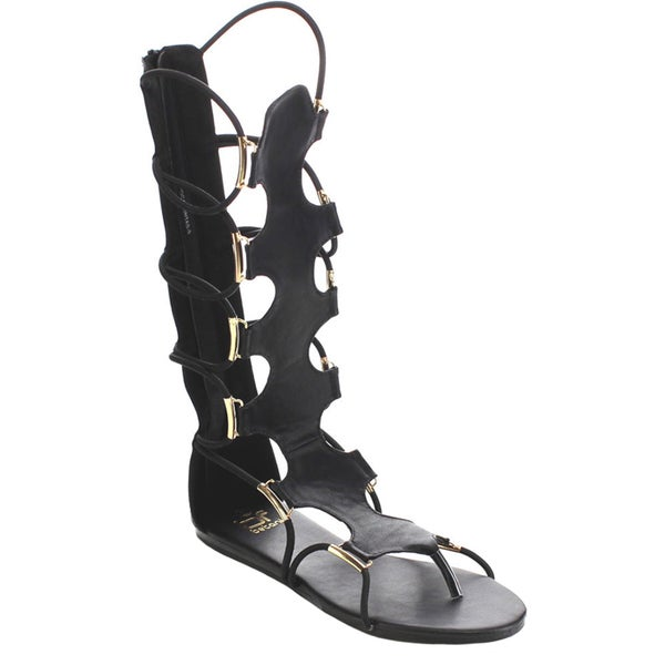 Beston FA77 Women's Gladiator Back Zip Sandals