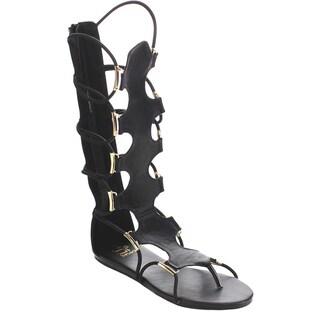 Beston FA77 Women's Gladiator Back Zip Sandals