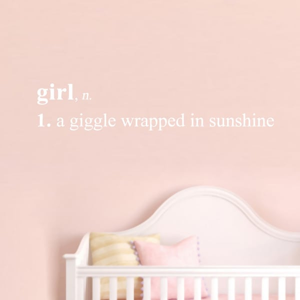 Girl Definition Wall Decal (48 x 9.5)