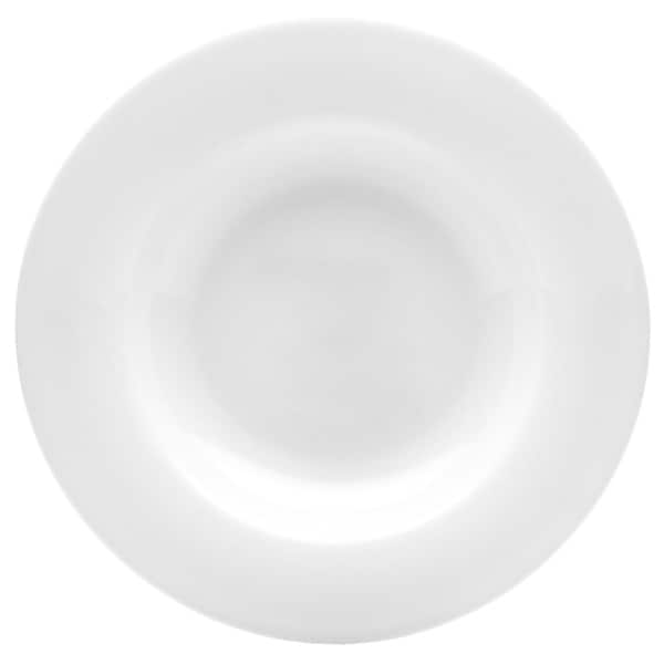 Pure Vanilla 8.75-inch Rimmed Soup Plate (Set of 4)