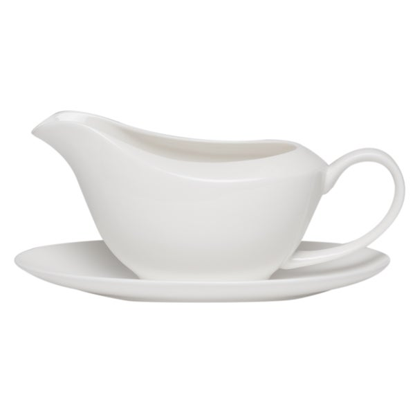 Pure Vanilla Gravy Boat with Tray