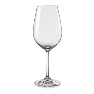 Red Vanilla Viola All-purpose Wine Glasses (Set of 6)