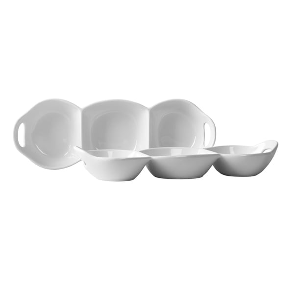 Blanc de Blanc Condiment Trays with Handles (Set of Two)